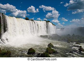 יגאאזא, waterfalls., ברזיל, אמריקה, דרום, ארגנטינה