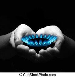 ידיים, גז