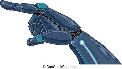 יד מלאכותית, חמש, דוגמה, הצבע