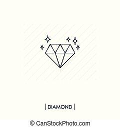 יהלום, הפרד, איקון, תאר