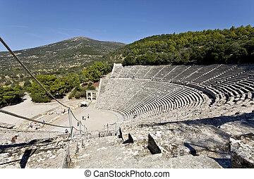 יוון עתיקה, peloponisos, אמפיתאטרון, אפידאאראס