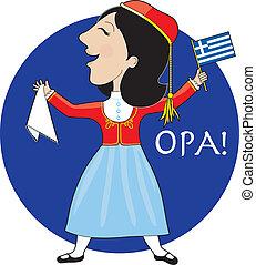 יווני, גברת, לרקוד
