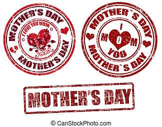 יום, אמא, בולים