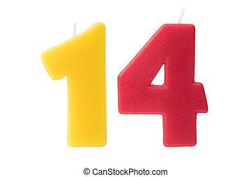 יום הולדת, ארבעה עשר, הפרד, נרות