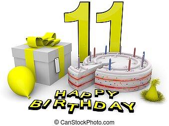 יום הולדת, צהוב, שמח