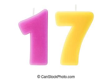 יום הולדת, שבעה עשר, הפרד, נרות