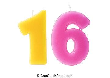 יום הולדת שישה עשר, הפרד, נרות