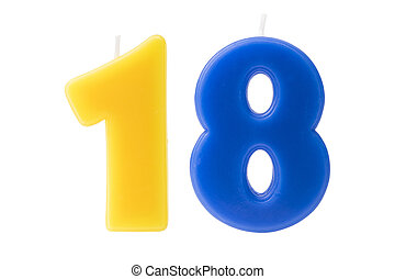 יום הולדת, שמונה עשר, הפרד, נרות
