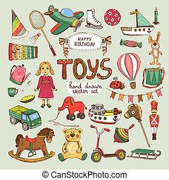 יום הולדת שמח, קבע, צעצועים