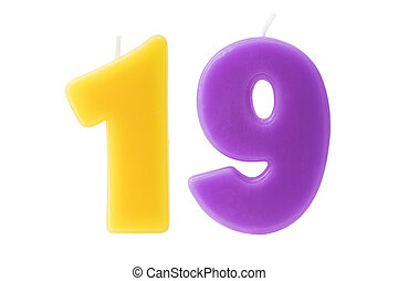 יום הולדת, תשעה עשר, הפרד, נרות