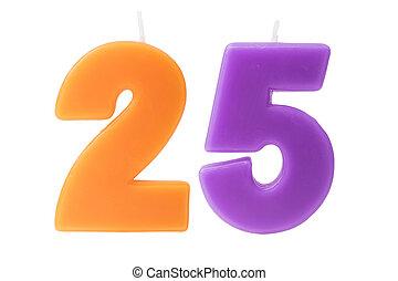 יום הולדת, 25th, הפרד, נרות