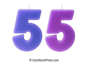יום הולדת, 55th, הפרד, נרות