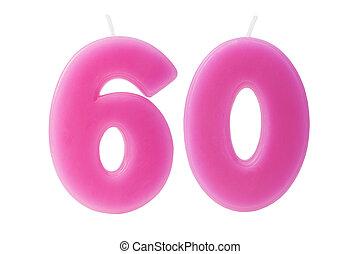יום הולדת, 60th, הפרד, נרות