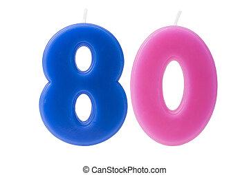 יום הולדת, 80th, הפרד, נרות
