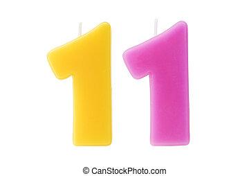 יום הולדת, eleventh, הפרד, נרות