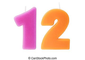 יום הולדת, twelfth, הפרד, נרות