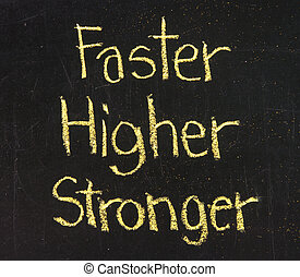 יותר גבוה, לוח, יותר מהיר, יותר חזק