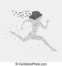 ילדה, לרוץ, נשים