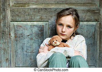 ילדה קטנה, עצוב