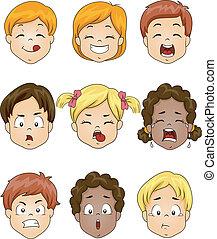 ילדים, ביטוי, פרצופי