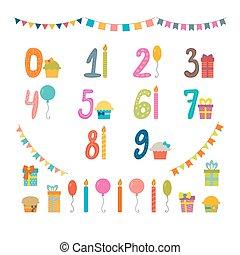 יסודות, יום הולדת, סידרה מעצבת, מספרים, מפלגה