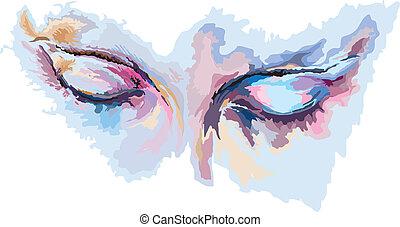 יפה, עיניים כחולות, ילדה