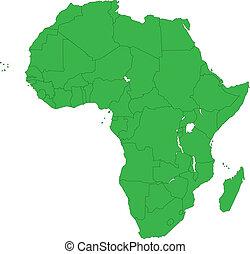 ירוק, אפריקה, מפה