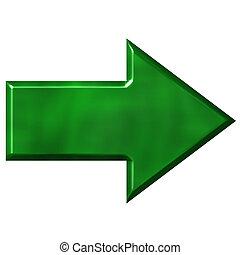 ירוק, חץ, 3d