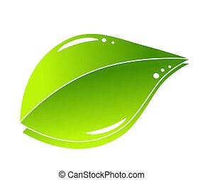 ירוק, מושג, דפדף, טבע