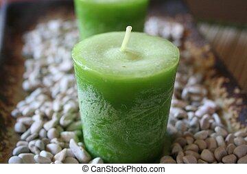 ירוק, נרות