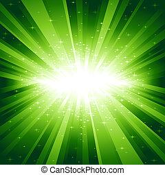 ירוק קל, כוכבים, התפוצץ