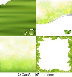 ירוק, רקעים