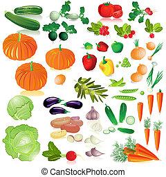 ירקות, הפרד, אוסף