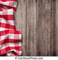 ישן, כופיספאך, שולחן מעץ, מפת שולחן, פיקניק, אדום
