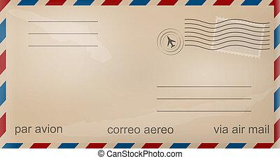 ישן, מעטפה, דואר אוויר