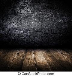 ישן, קיר, floor., בטון, עצב, מעץ, template.