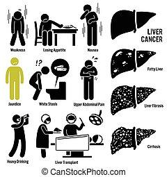 כבד, סימפטומים, סרטן