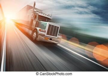 כביש מהיר, משאית