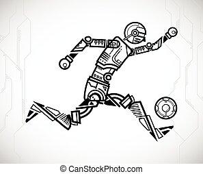 כדורגל, רובוט, לשחק