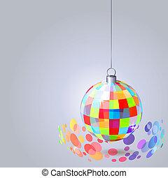 כדור, אור, לתלות, אפור, רקע, שקף, נצנוצים
