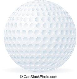 כדור, גולף, הפרד, לבן