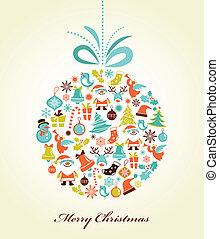 כדור, חג המולד, חג המולד, רקע, ראטרו