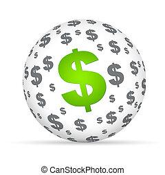 כדור, סימן של דולר