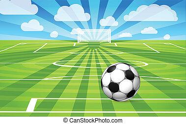 כדור של כדורגל, תחום, משחק, דשא, *משקר/שוכב