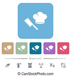 כד, בשר, רקעים, מקצץ, איקונים, סכין, טבח, ריבוע, כובע, דירה, צבע