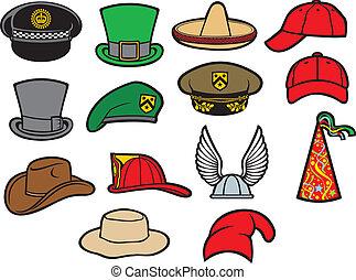 כובעים, אוסף