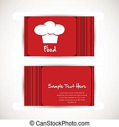 כובע, טבח, כרטיס ביקור