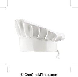 כובע, טבח, לבן