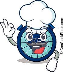 כובע, לבן, ציור היתולי, סיגנון, שעון חול, ללבוש, טבח, עצב