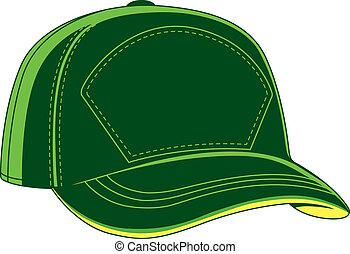 כובע של בייסבול, ירוק